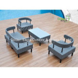Im Freienmöbel-Rattan-Möbel-Polyester-Gewebe-Patio-Möbel
