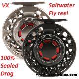 O CNC Waterproof o carretel selado 100% da pesca de mosca do Saltwater