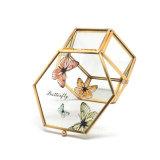 De in het groot Kleine Doos van de Gift van de Juwelen van het Glas van het Metaal van het Plateren Gouden