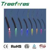 Fibre optique allumant la fibre latérale solide de lueur