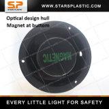 Luz de faro solar giratoria del LED que contellea con el imán