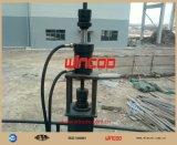 Sistema de levantamento com macaco hidráulico usado para a construção do tanque