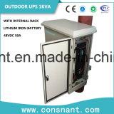 UPS en línea al aire libre de 48VDC 1kVA con la batería del hierro del litio