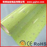 Film de verre décoratif en verre stratifié à haute brillance PVC / film en verre PVC