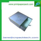 Rectángulo de reloj cosmético del perfume del cajón de la cartulina doble/sola del desplazamiento ofrecido hecho a mano de encargo