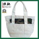sacchetto del cliente del Tote della tela di canapa di alta qualità 12oz con le maniglie