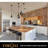 木製のキャビネットの現代デザインTivo-0260hと混合する白い食器棚