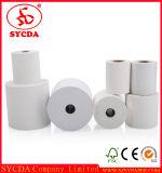 Papier thermique rendant résistant de reçu en espèces trois pour le papier thermosensible d'impression de restaurant/côté