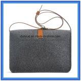 La fábrica hace el bolso ocasional sentido las lanas respetuosas del medio ambiente del mensajero, bolso de hombro caliente del totalizador de las compras del regalo de la promoción con la correa de cuero de la PU