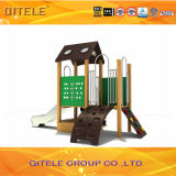 Напольное оборудование спортивной площадки в пластичном деревянном столбе для детей
