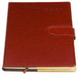 Тетрадь книга в твердой обложке канцелярских принадлежностей PU конструкции способа изготовленный на заказ кожаный с замком