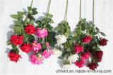 La seta rossa di qualità di Hight fiorisce Rosa artificiale per la decorazione di unione