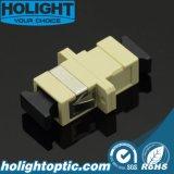 Beige van de Adapter van de vezel het Optische Sc aan Sc Simplex Multimode