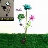 Garten-Dekoration-Metallhelle farbige Blumen-helle Stange-Solarfertigkeit