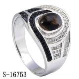Zilveren Juwelen 925 Zilveren Ringen van de Mensen van CZ met Natuurlijke Steen