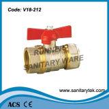 A válvula de esfera de bronze da alta qualidade com compressão termina (V18-212)