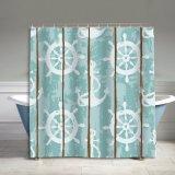 Cortina de chuveiro impermeável do banheiro da tela do poliéster do Auti-Mildew (09S0026)