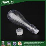 150mlはプラスチック装飾的な容器のびん帽子のねじが付いているつぼによって形づけられる明確な水構成のびんを空ける