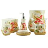 Accessorio di ceramica della stanza da bagno della decalcomania di Bling della molla
