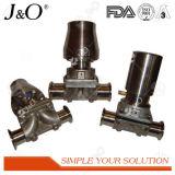 衛生ステンレス鋼の空気の直通の方法ダイヤフラム弁