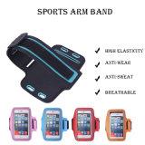 屋外スポーツの伸縮性がある腕章、適性は伸縮性があるアームバンドを遊ばす