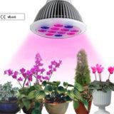 la planta de 12W E27 LED crece ligera para el invernadero hidropónico del jardín