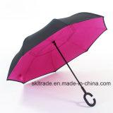 Kleurrijke Draagbare Handsfree Rechte Omgekeerde Omgekeerde Paraplu voor Auto