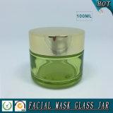 100ml de lege Kruik van het Glas van het Masker van de Schoonheidsmiddelen van de Cilinder Gezichts