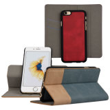 Estofada destacável de couro Folio Case com Keystand para iPhone 6s