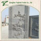 Estatua de piedra de talla de piedra de la piedra de la escultura de la columna de la decoración de la pared de la pintura de pared de los murales