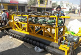 Strada Using il lastricatore del calcestruzzo dell'asfalto di vibrazione