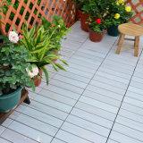 Plataforma ao ar livre que bloqueia a telha de assoalho plástica removível do Slat do PVC