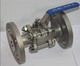 Válvula de esfera fina pneumática (Q671F) para o uso da indústria