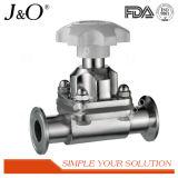 Válvula de diafragma neumática sanitaria del acero inoxidable con el actuador plástico