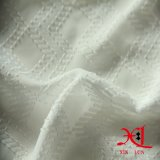 Ткань чисто белого полиэфира жаккарда шифоновая для одежды женщин