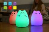 Lampada a forma di animale di notte della camera da letto del silicone multicolore