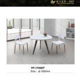 둥근 유리제 작은 커피용 탁자를 가진 유리제 커피용 탁자 유리제 둥근 커피용 탁자 우유 커피 테이블 (YF-17007T/008T/009T)