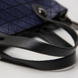 진한 파란색 마름모꼴 기하학 실리카 젤 어깨에 매는 가방 (A047)