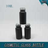 10ml小さいシリンダー黒の精油の装飾的なガラスビン