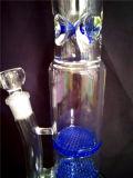 Conduite d'eau en verre de Handblown du recycleur AA037
