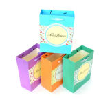 Bolsos de compras de papel del conjunto 0f 2 multicolores para la señora