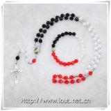 方法ビードの数珠のネックレスの宝石類セット、セットされる十字のネックレス(IOcrs005)