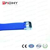 Bracelet bleu réglable de silicium d'IDENTIFICATION RF dans la forme de montre