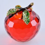 Artes hermosos de Apple del vidrio cristalino para el regalo de la decoración