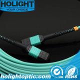 MPO aan MPO Om3 Kabel van het Flard van de Vezel de Optische