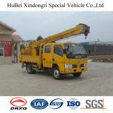 14m DongfengのユーロIIIのアンテナのプラットホームのホックのトラック