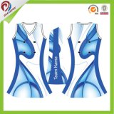 Robes de Netball d'impression de sublimation de mode d'OEM de Lycra