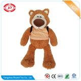 O lobo macio do urso do animal enchido do luxuoso com T-Merda caçoa o brinquedo