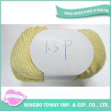 Fio de confeção de malhas do disconto do algodão de bambu natural macio do bebê em linha