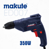 Makute 10mm taladro eléctrico 350W con la llave de mandril (ED007)